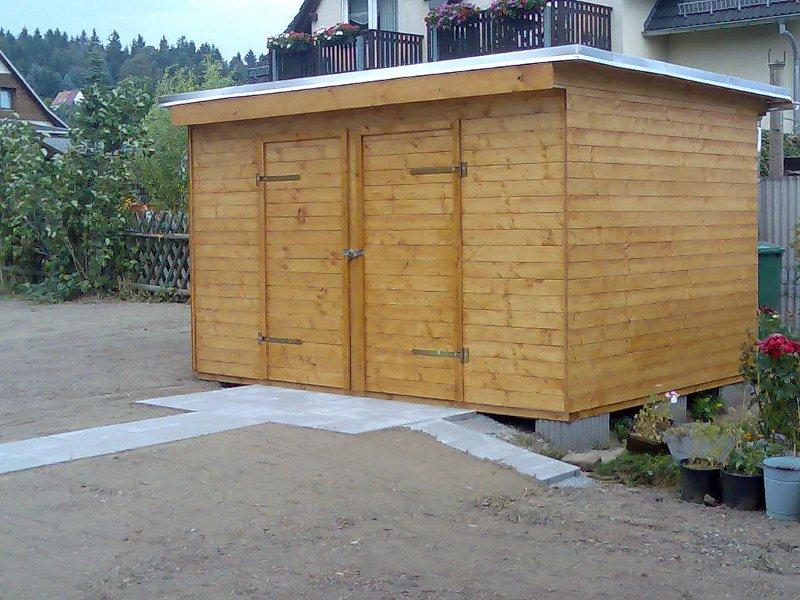 Neubau Geräteschuppen in Grüna