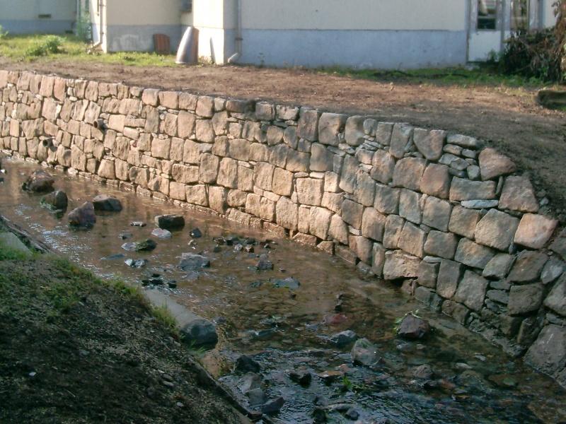 Neubau einer Bachmauer<br>in Beuta bei Stollberg