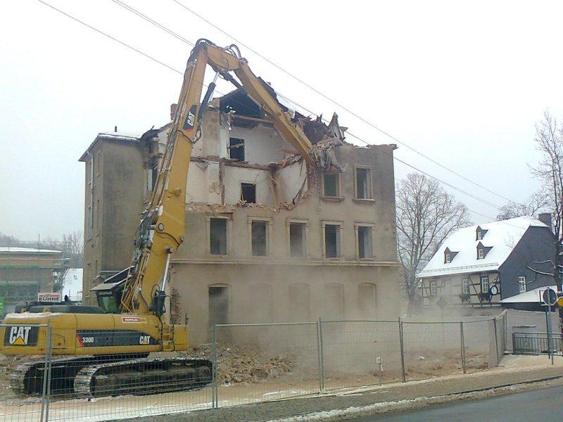 Gebäudeabbruch in<br>Burkhardtsdorf